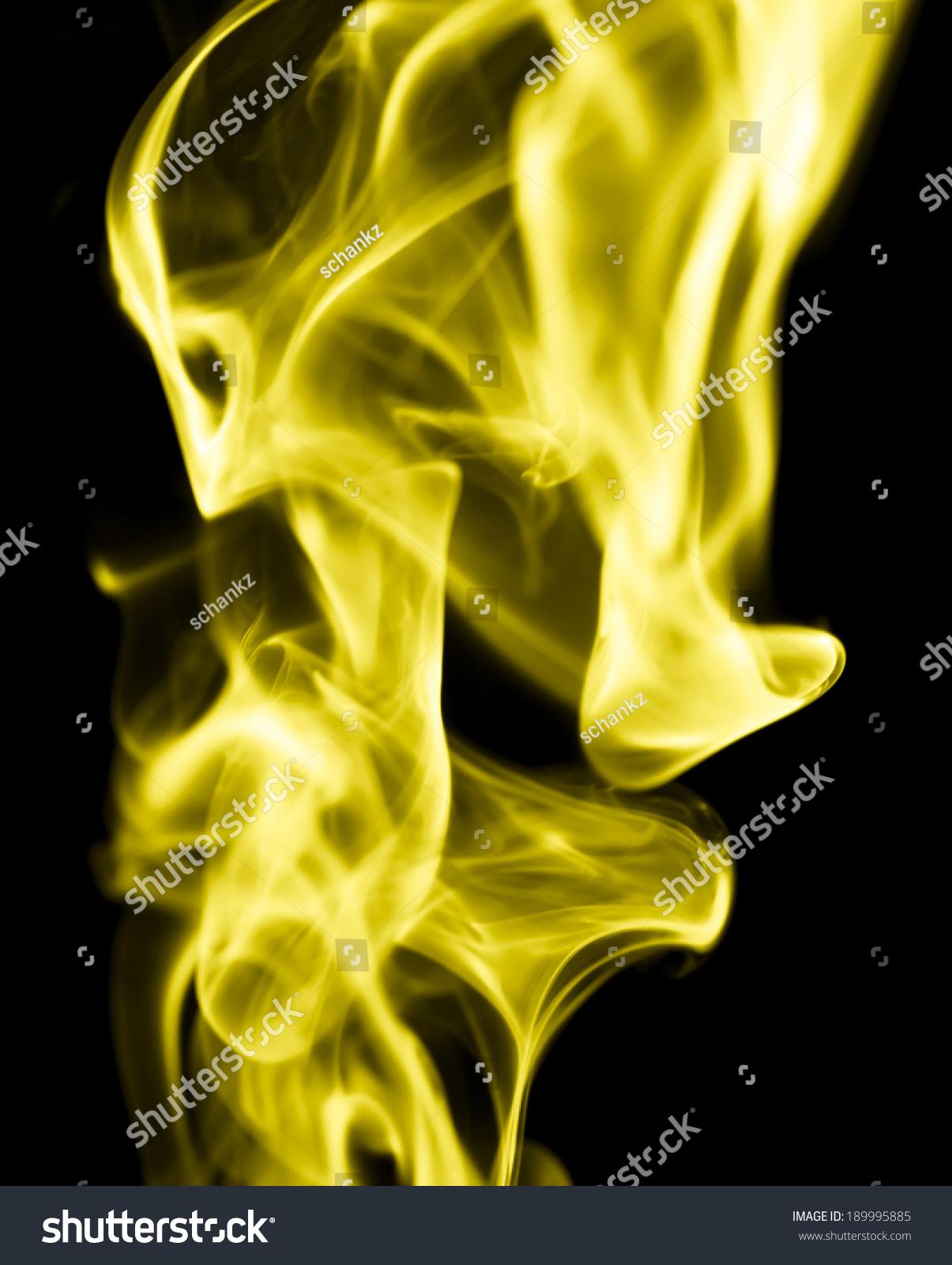 Yellow smoke photo