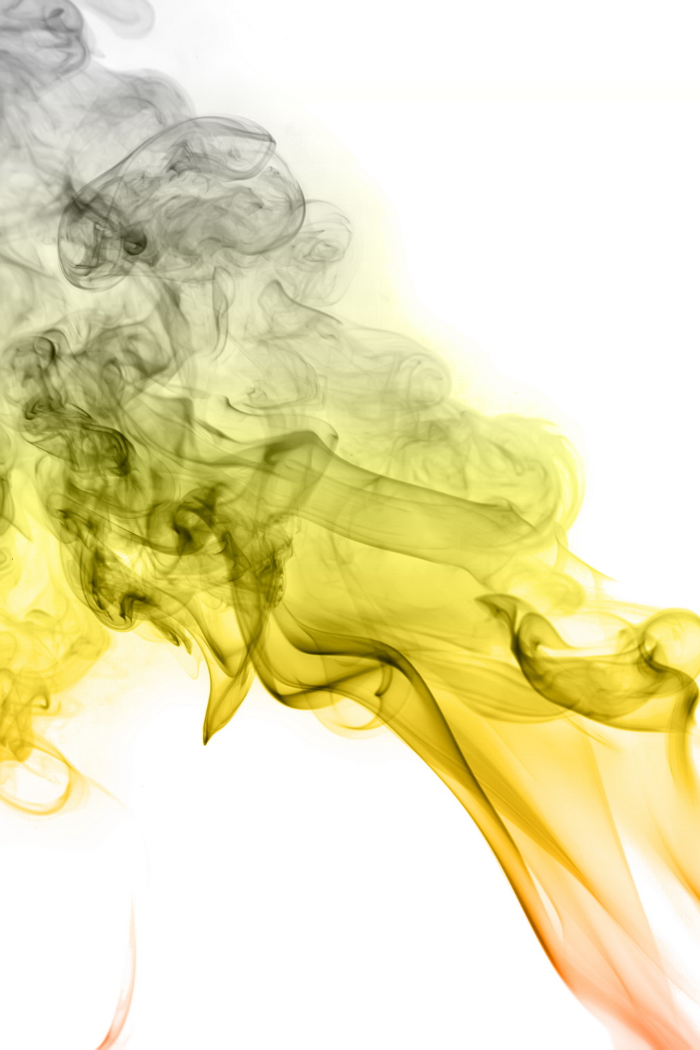 yellow smoke, Smoke, Image, Isolated, Magic, HQ Photo