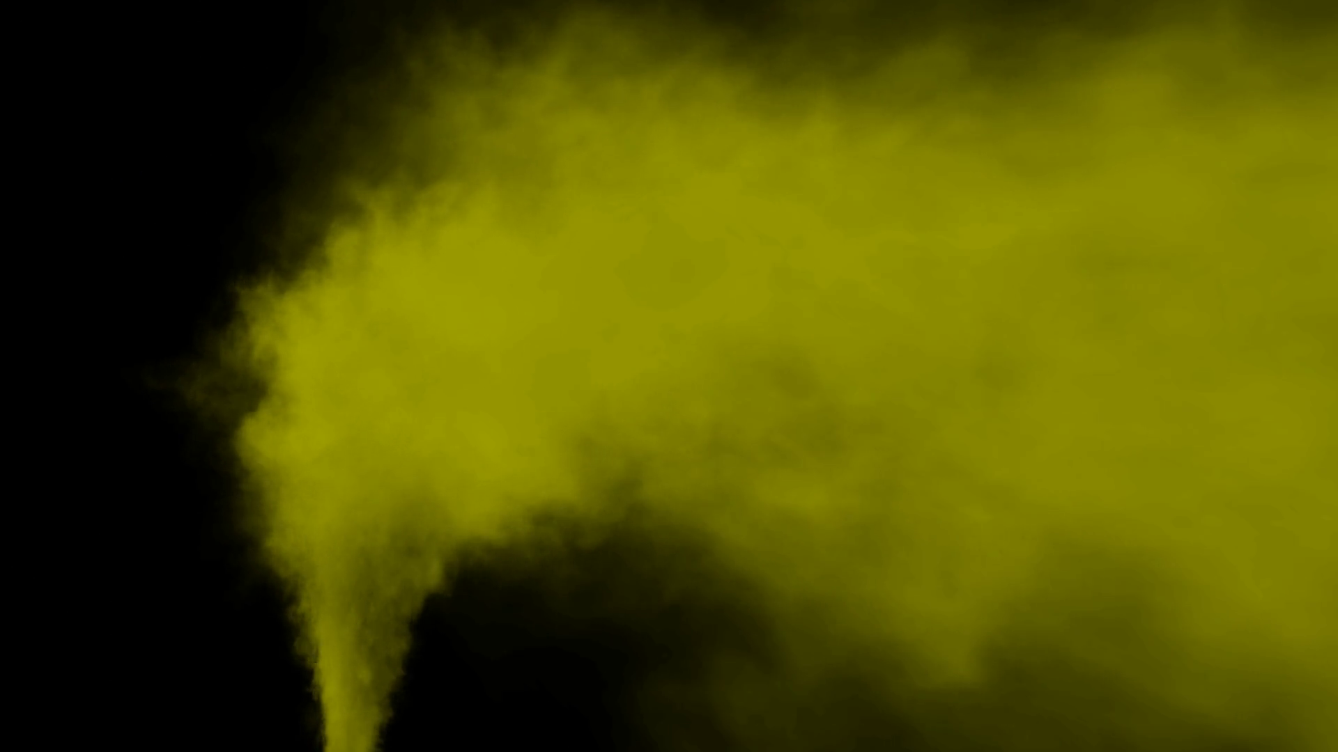 Animated stream of yellow smoke or toxic gas drifting to the right ...