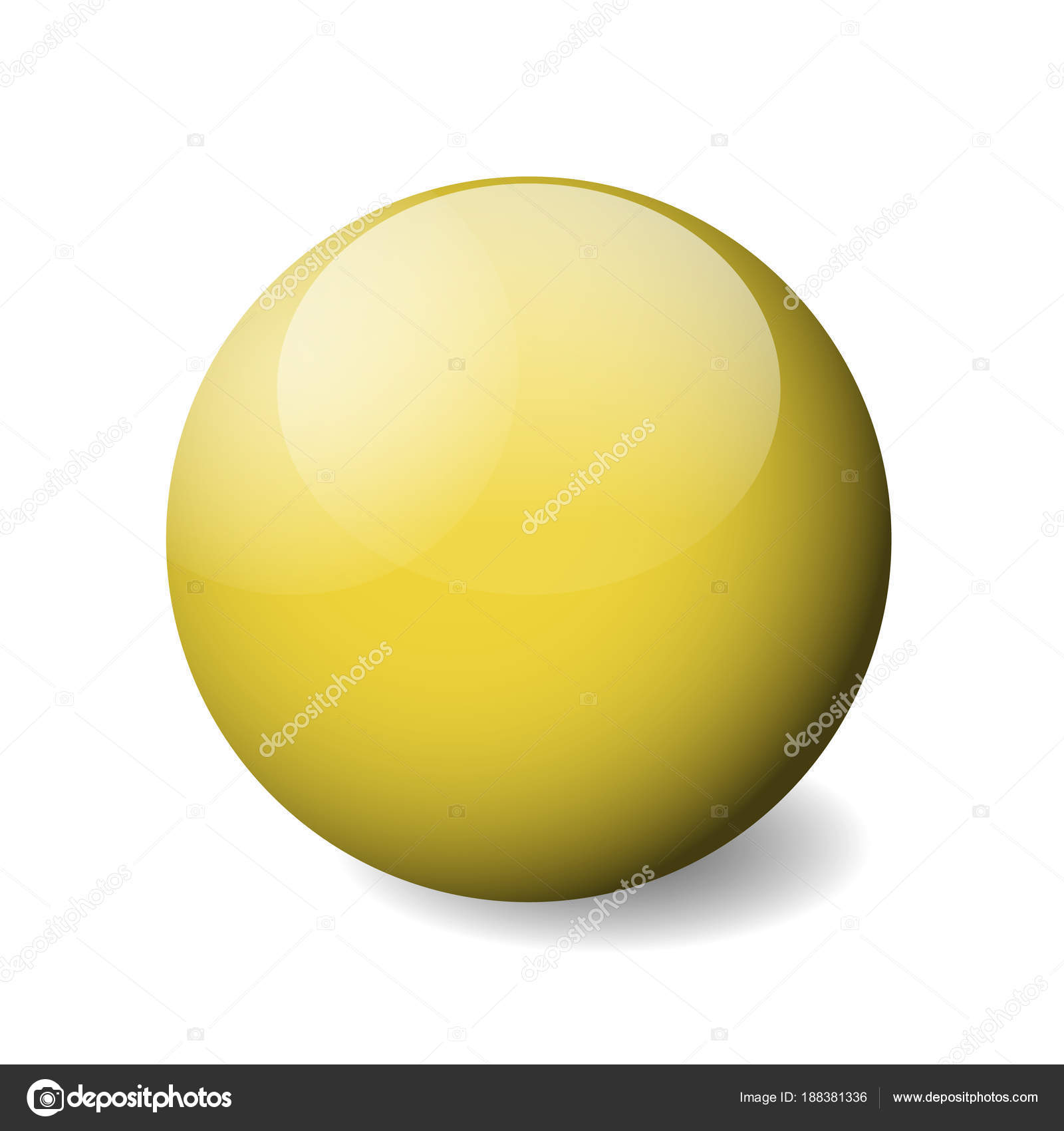 Yellow sphere illustration photo