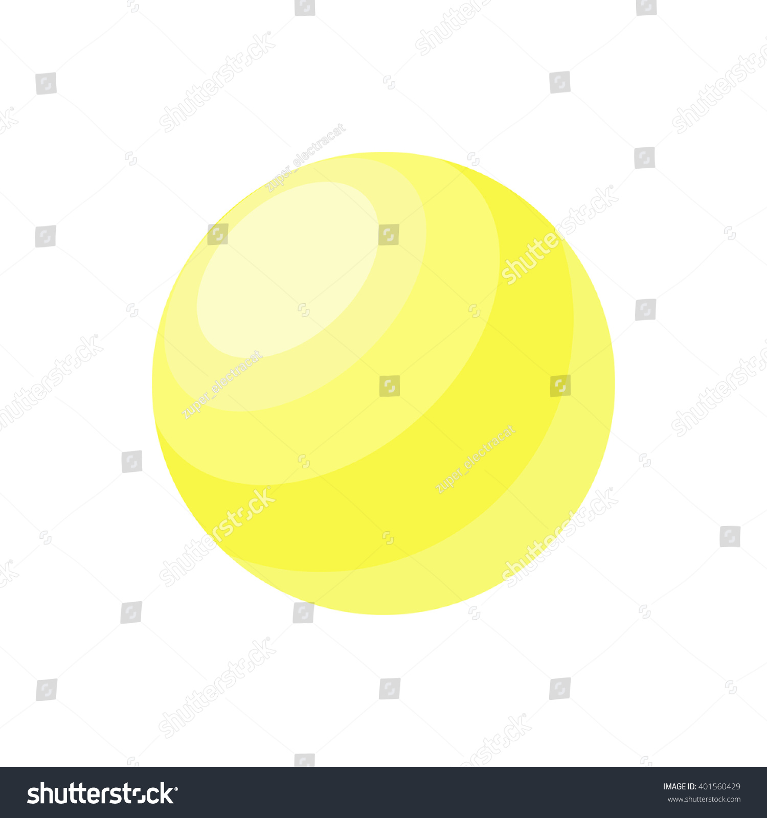 Abstract 3d Yellow Sphere Vector Illustration Stock Vector 401560429 ...