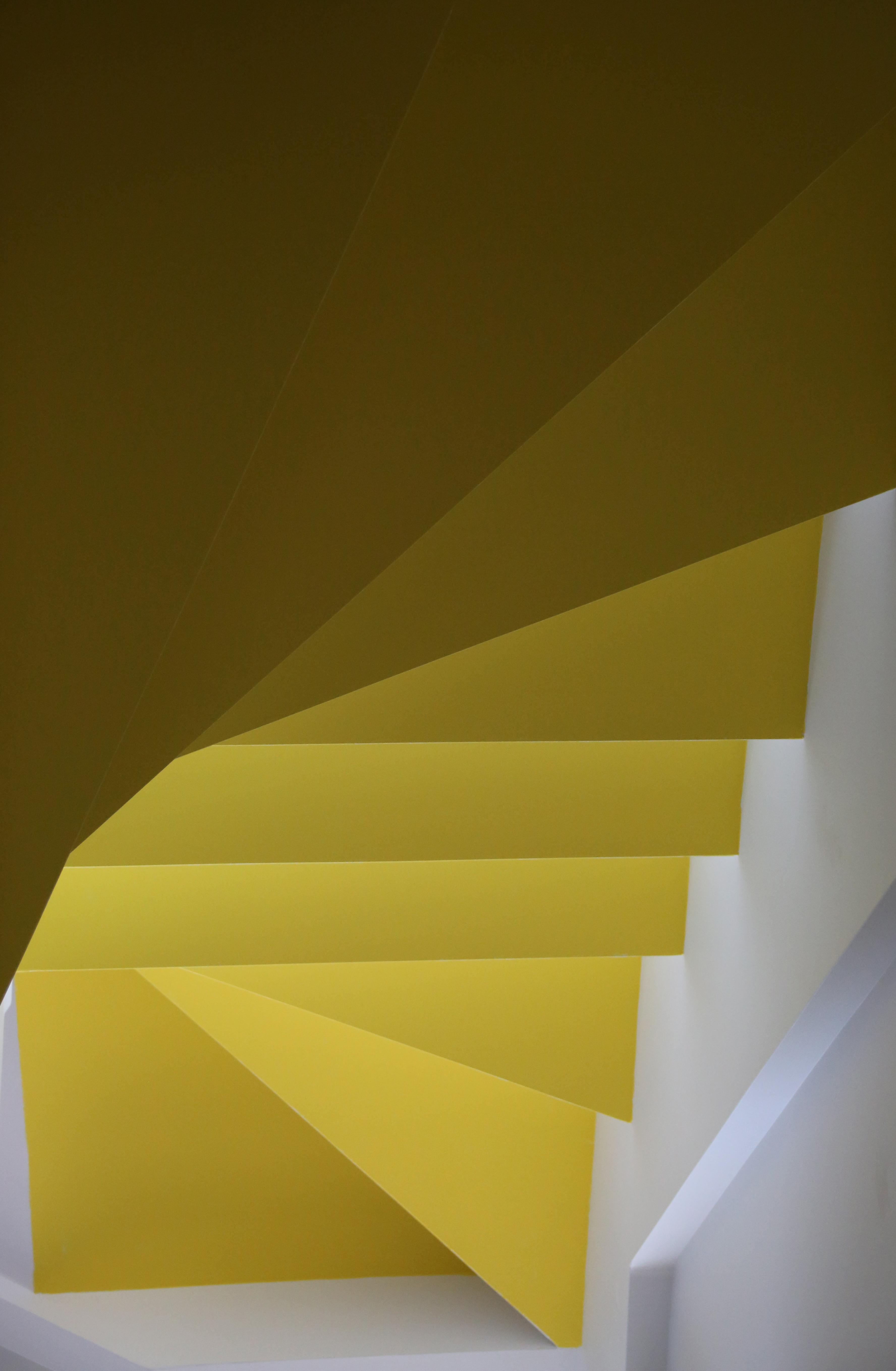 Yellow stairs photo