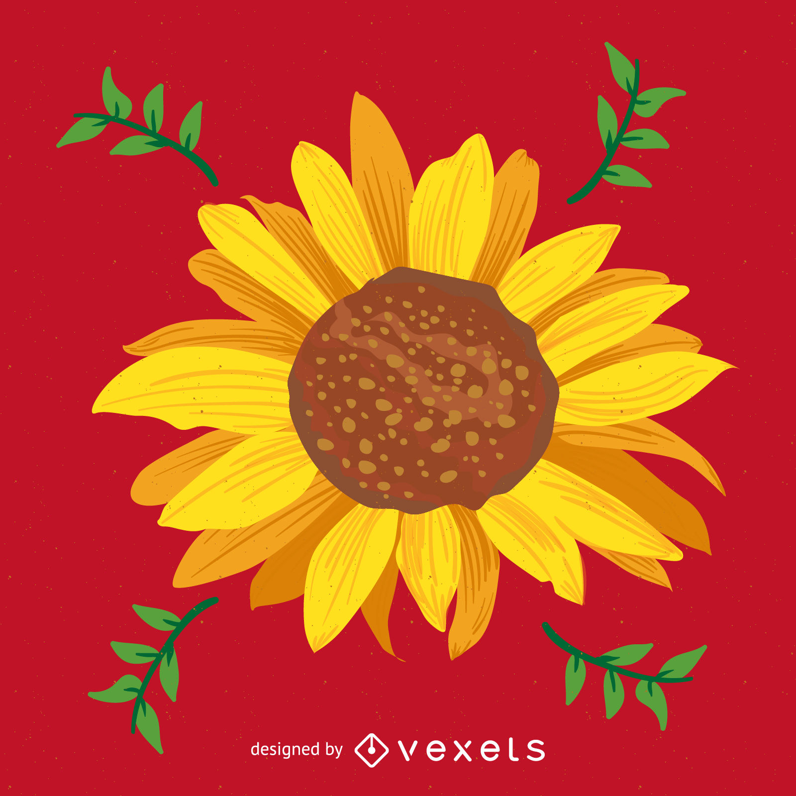 Bright sunflower illustration - Vector download