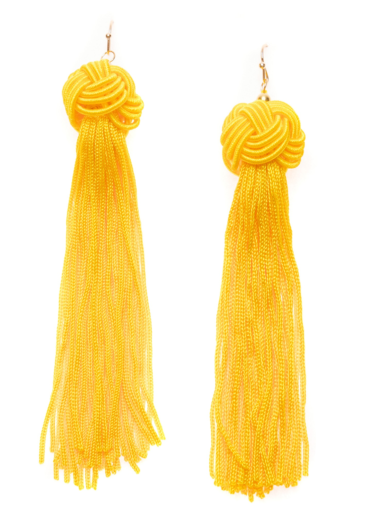 Sunshine Knot Tassel Earrings - Happiness Boutique