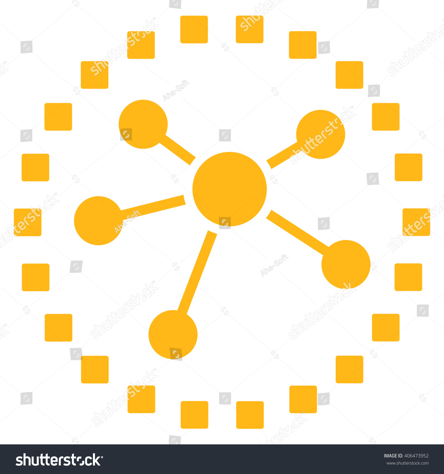 Links Diagram Glyph Toolbar Icon Style Stock Illustration 406473952 ...