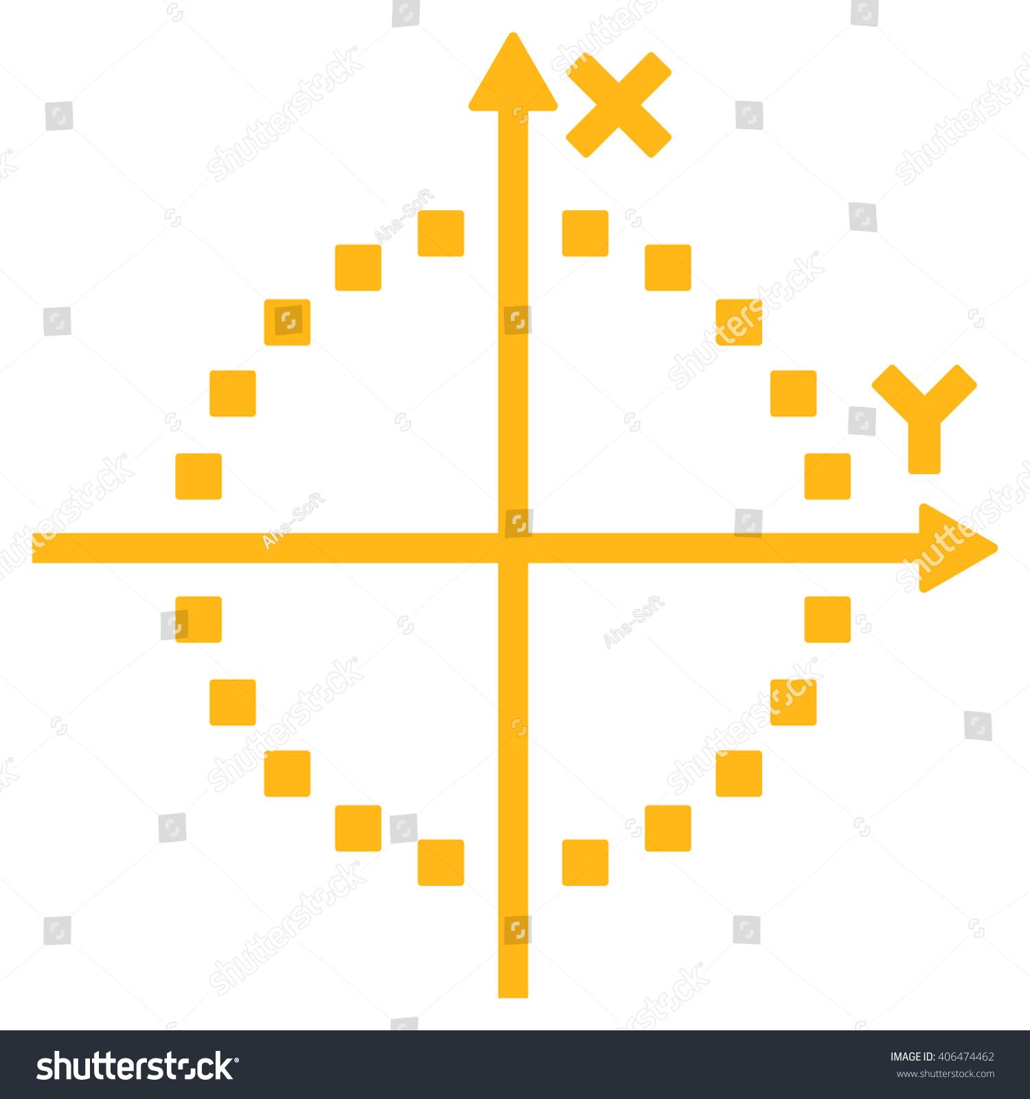 Circle Plot Glyph Toolbar Icon Style Stock Illustration 406474462 ...