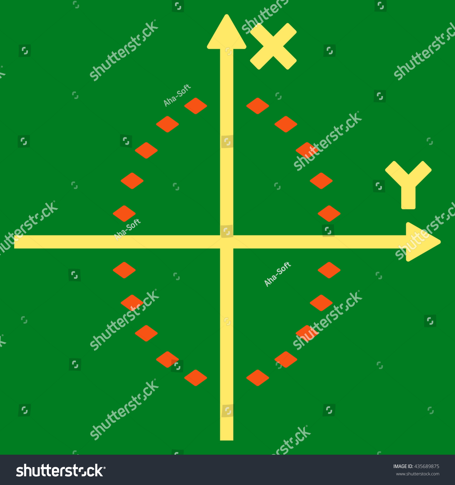 Dotted Ellipse Plot Vector Toolbar Icon Stock Vector 435689875 ...