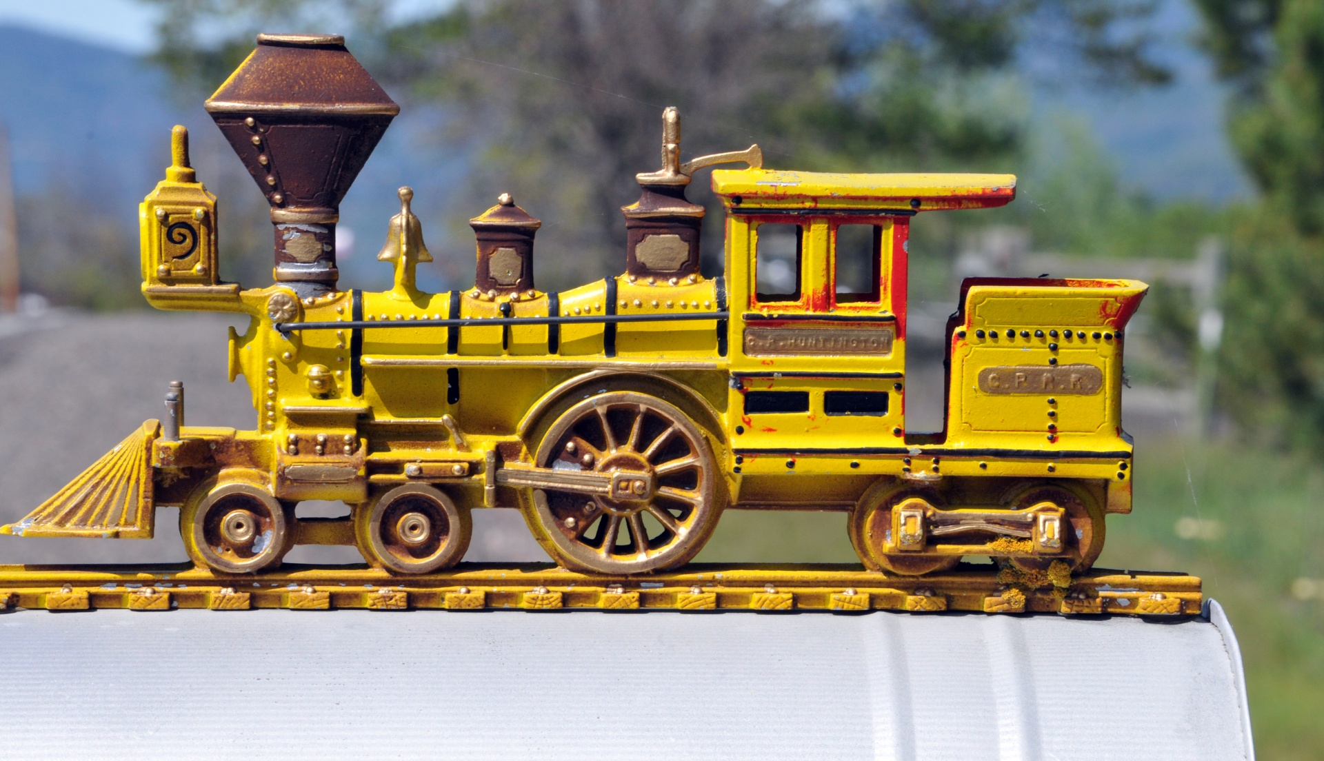 Yellow Train On Mailbox Free Stock Photo - Public Domain Pictures