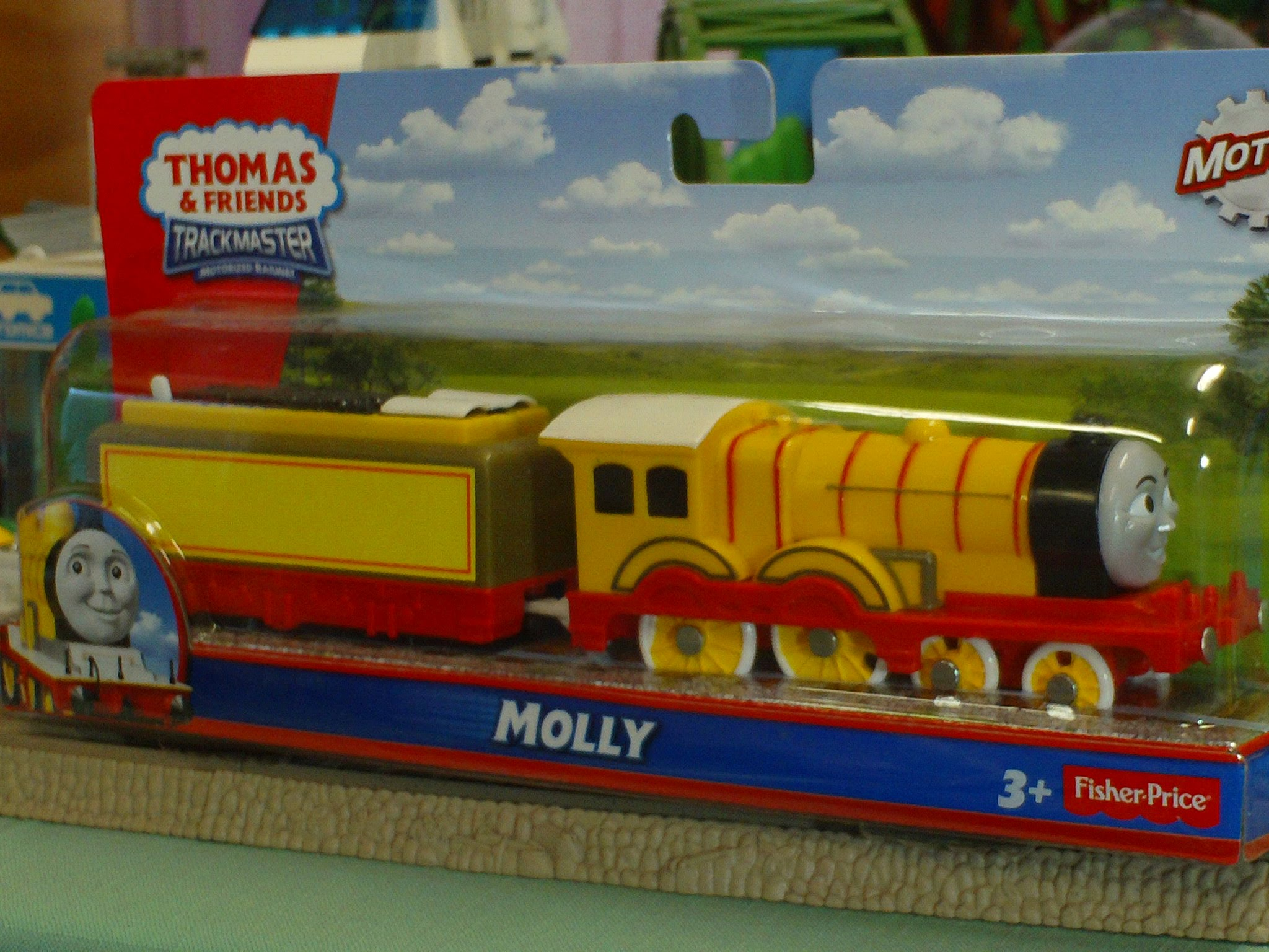 Video for Children Toy TRAINS Thomas Trackmaster Train Yellow Molly ...