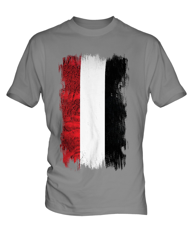 YEMEN GRUNGE FLAG MENS T-SHIRT TEE TOP AL-YAMAN FOOTBALL YEMENI GIFT ...