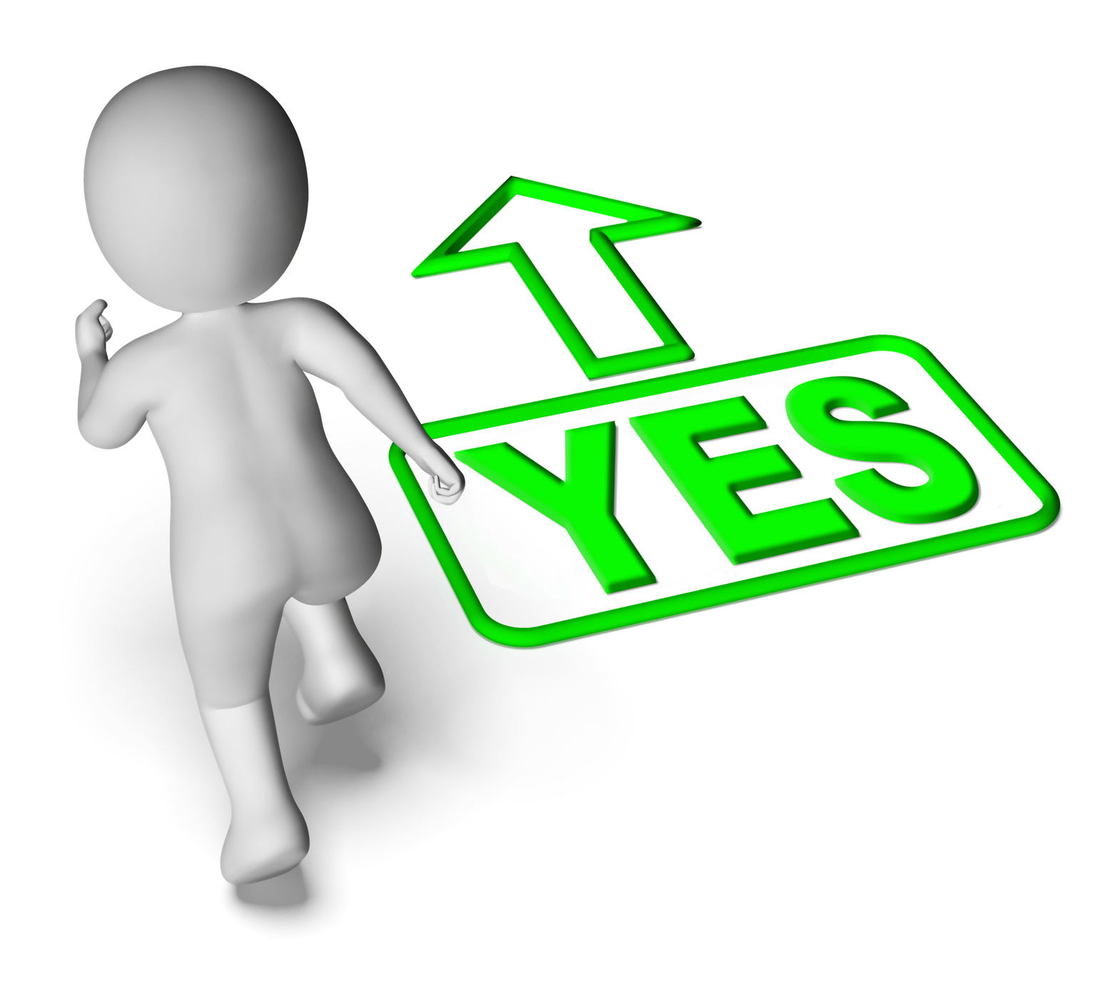 Yes and 3d character shows affirm agree ok photo