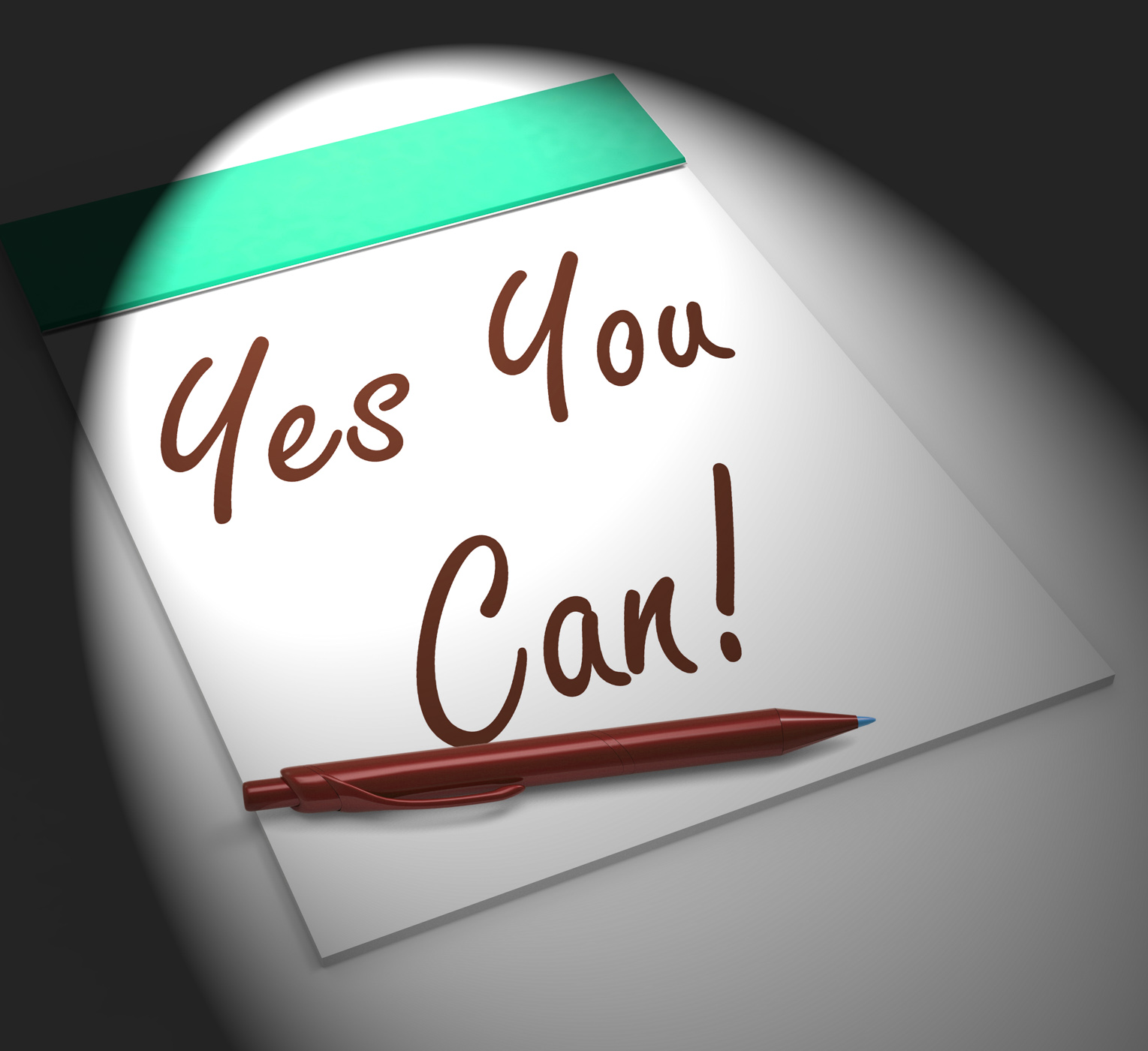 Yes you can! notebook displays positive incentive and persistence photo
