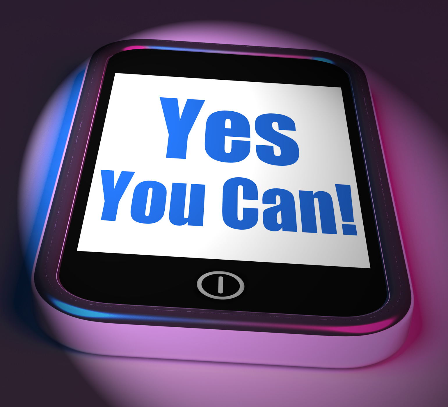Yes you can on phone displays motivate encourage success photo