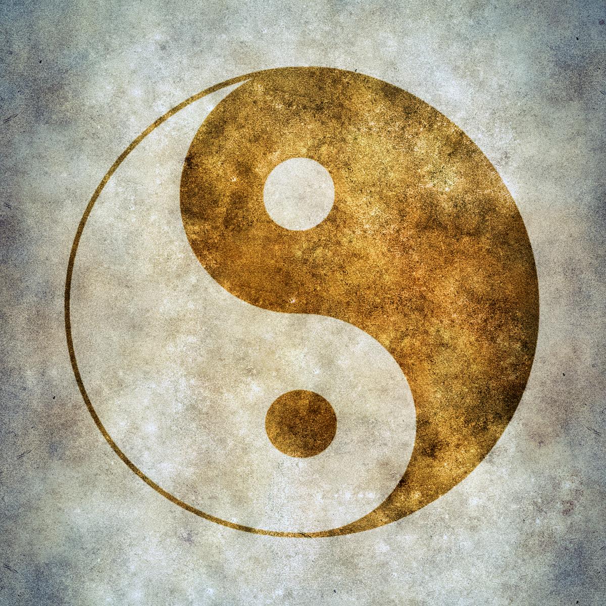 yin yang, Abstract, Old, Yang, Wave, HQ Photo