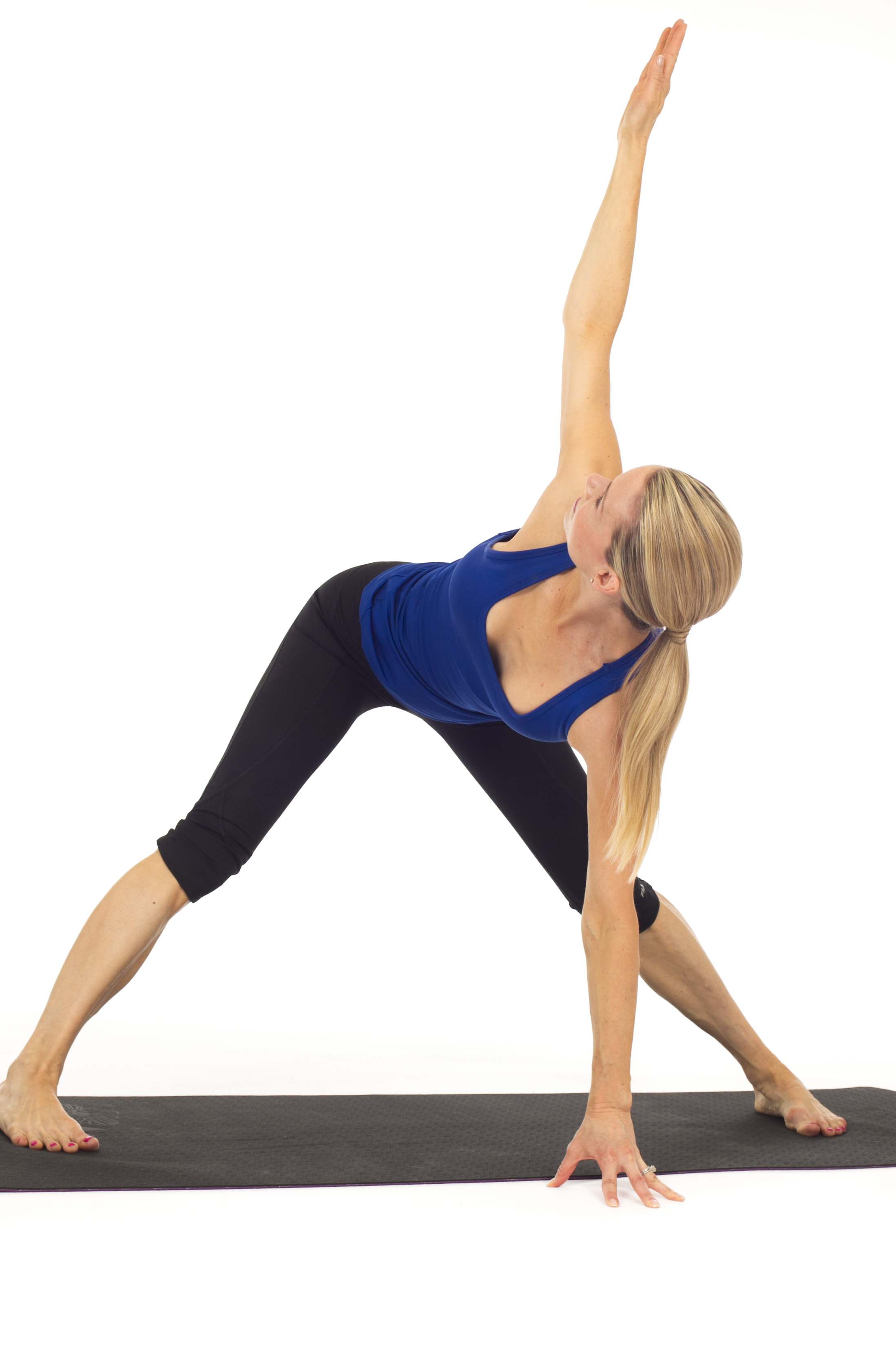TTC yoga pose: Wide leg standing forward fold with twist to wring ...