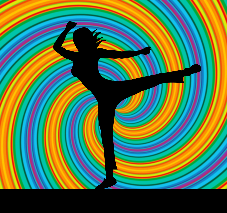 Yoga pose represents harmony balance and zen photo