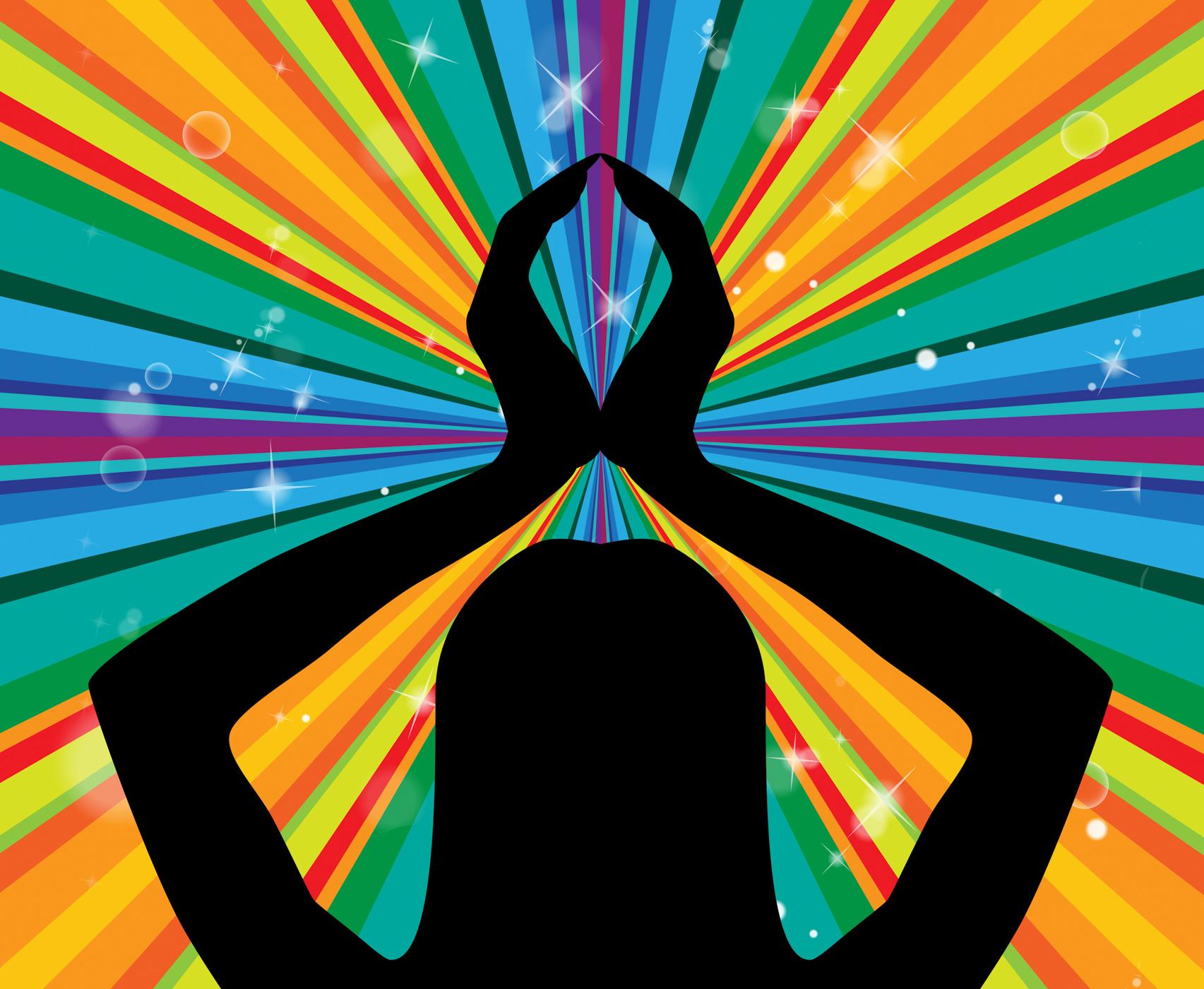 Yoga pose represents silence posture and harmony photo