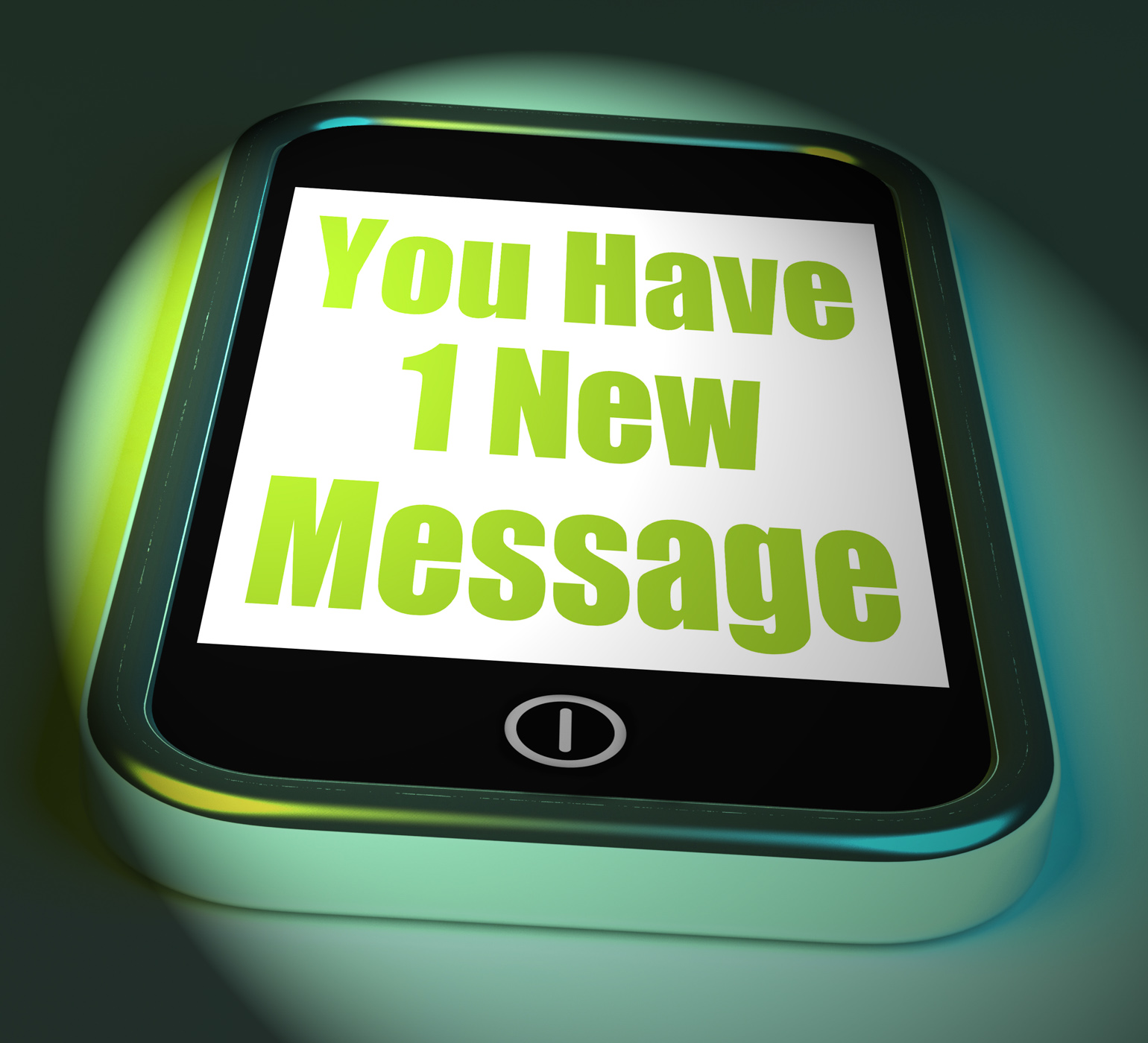 You have 1 new message on phone displays new mail photo