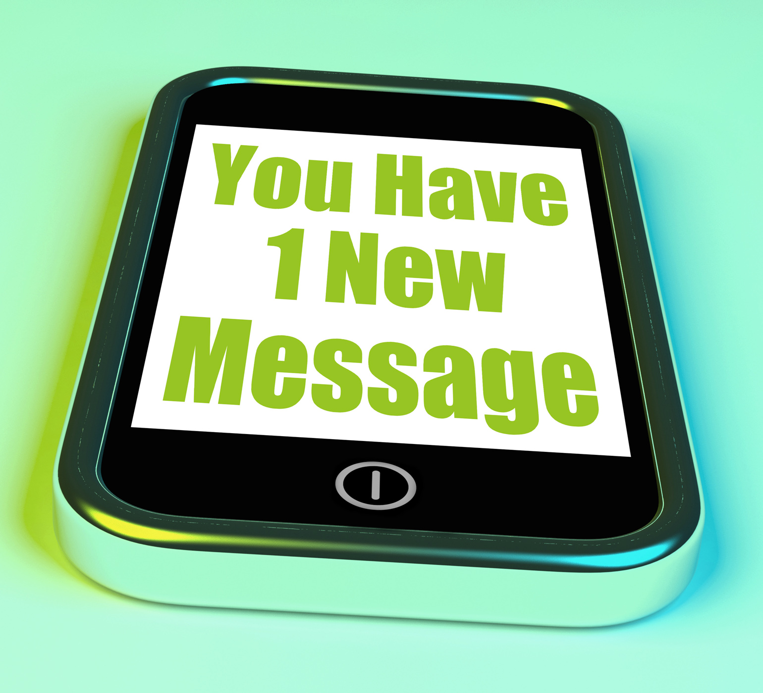 You have 1 new message on phone means new mail photo