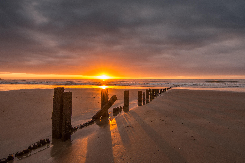 Youghal Sunrise County Cork, Bay, Sea, Water, View, HQ Photo