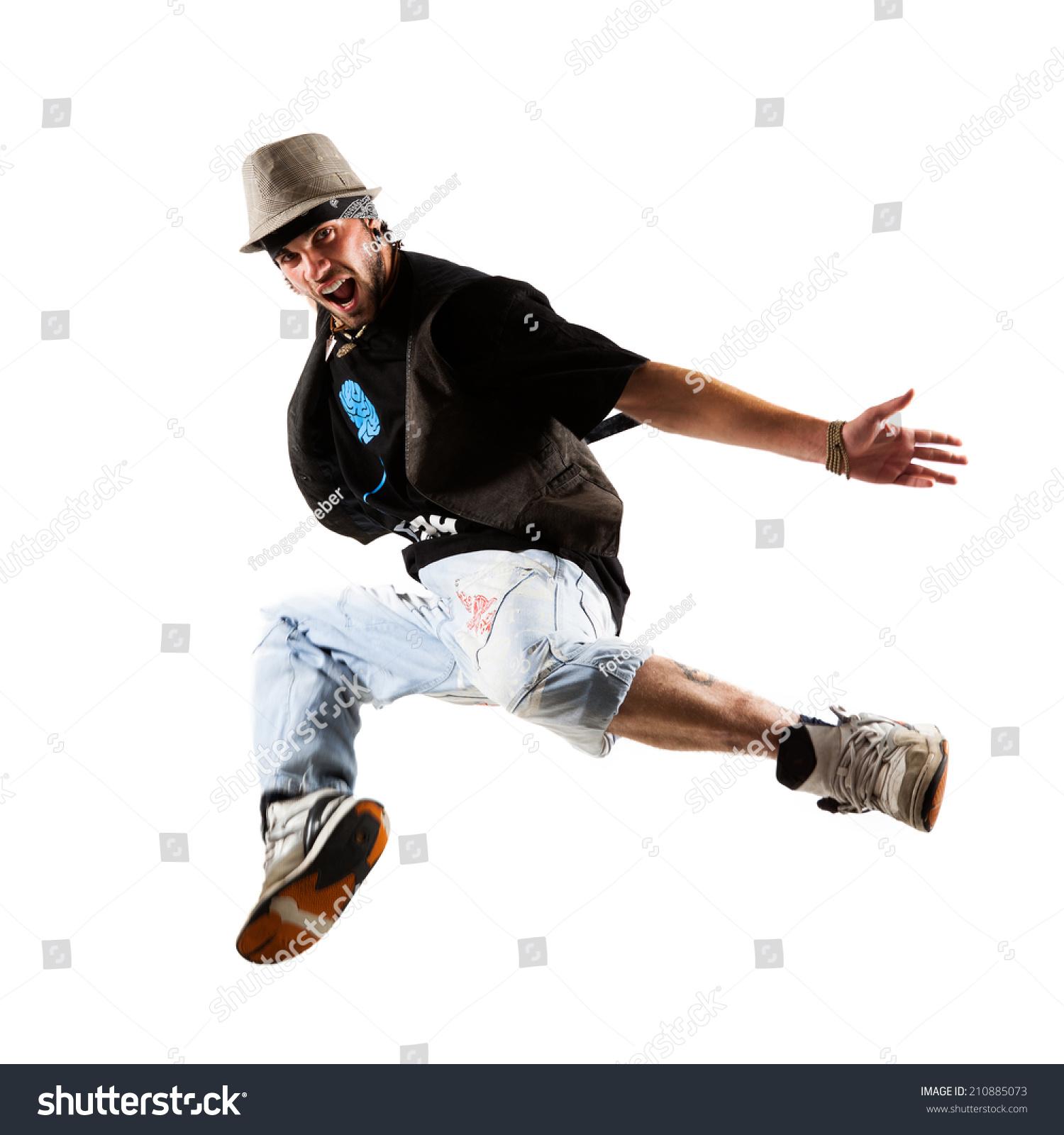 Young jumping man photo