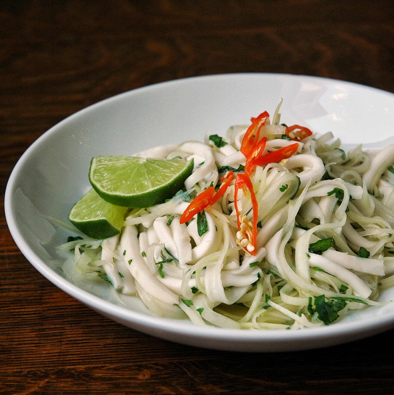 Green Papaya & Young Coconut Salad - Simply Jullie and Chelsea