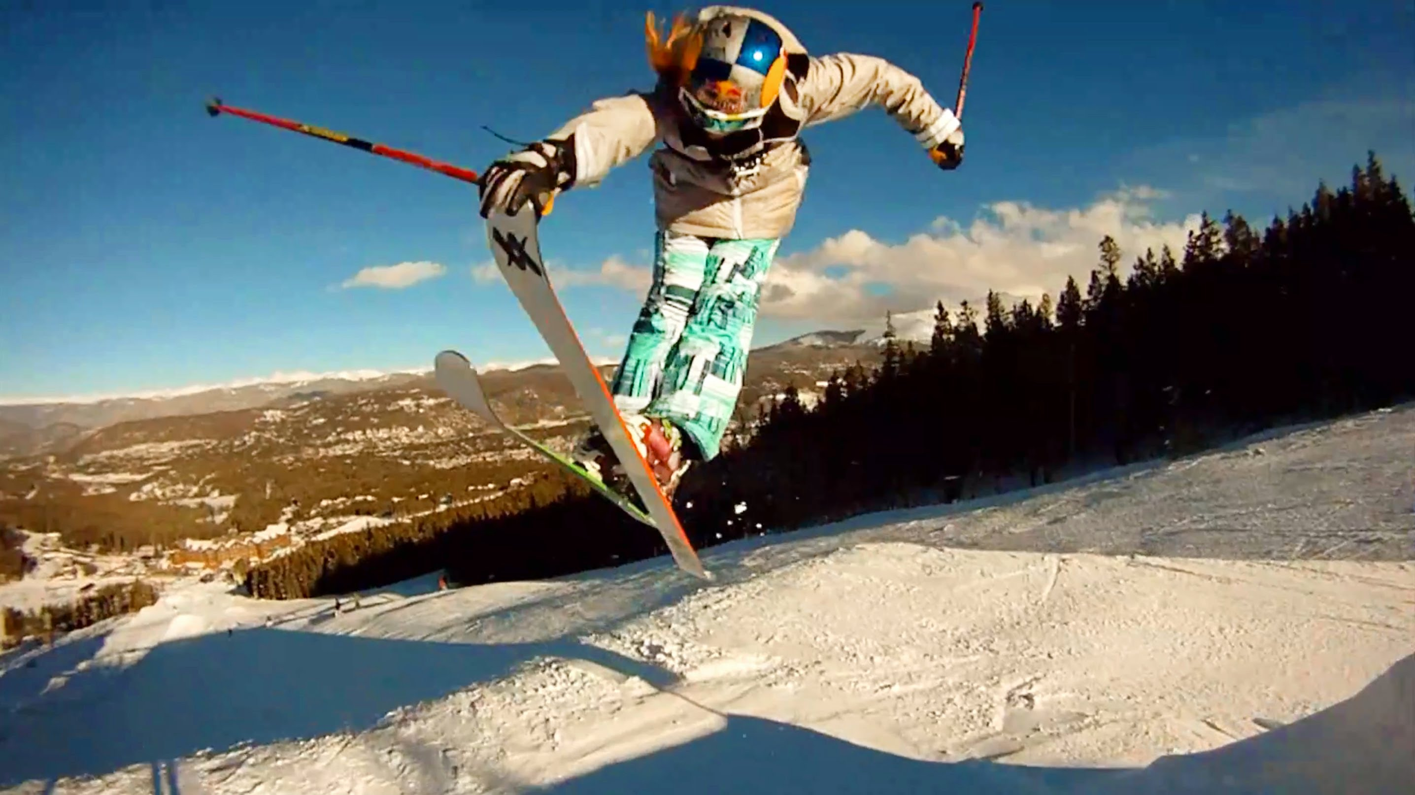 Young trick skier photo