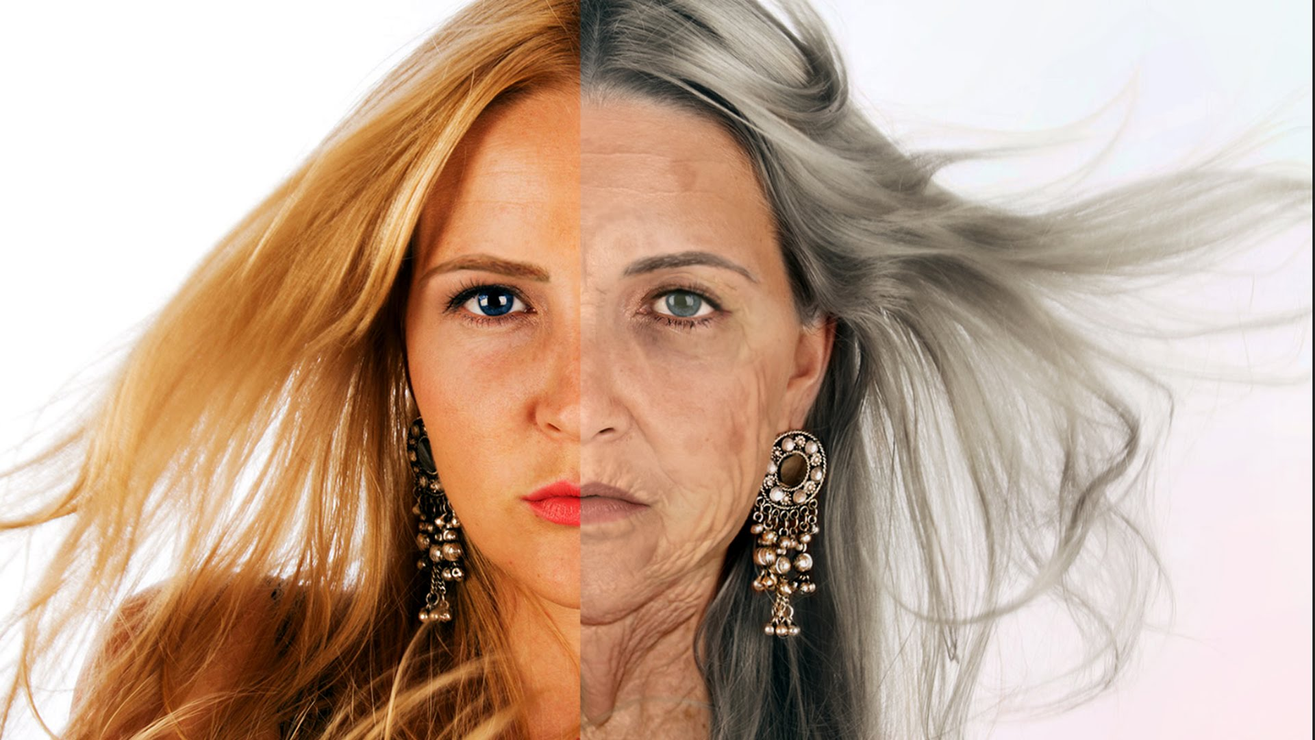 YOUNG woman TRANSFORMED into a very OLD lady - YouTube