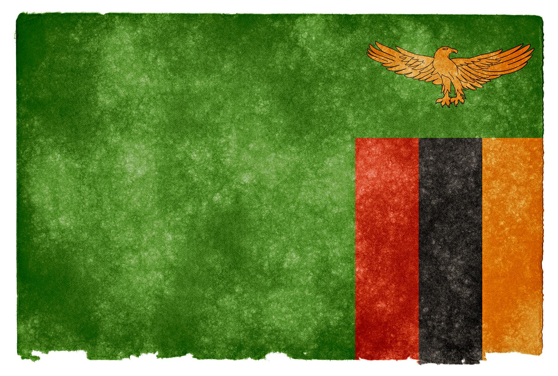 Zambia Grunge Flag, Africa, Resource, Old, Orange, HQ Photo