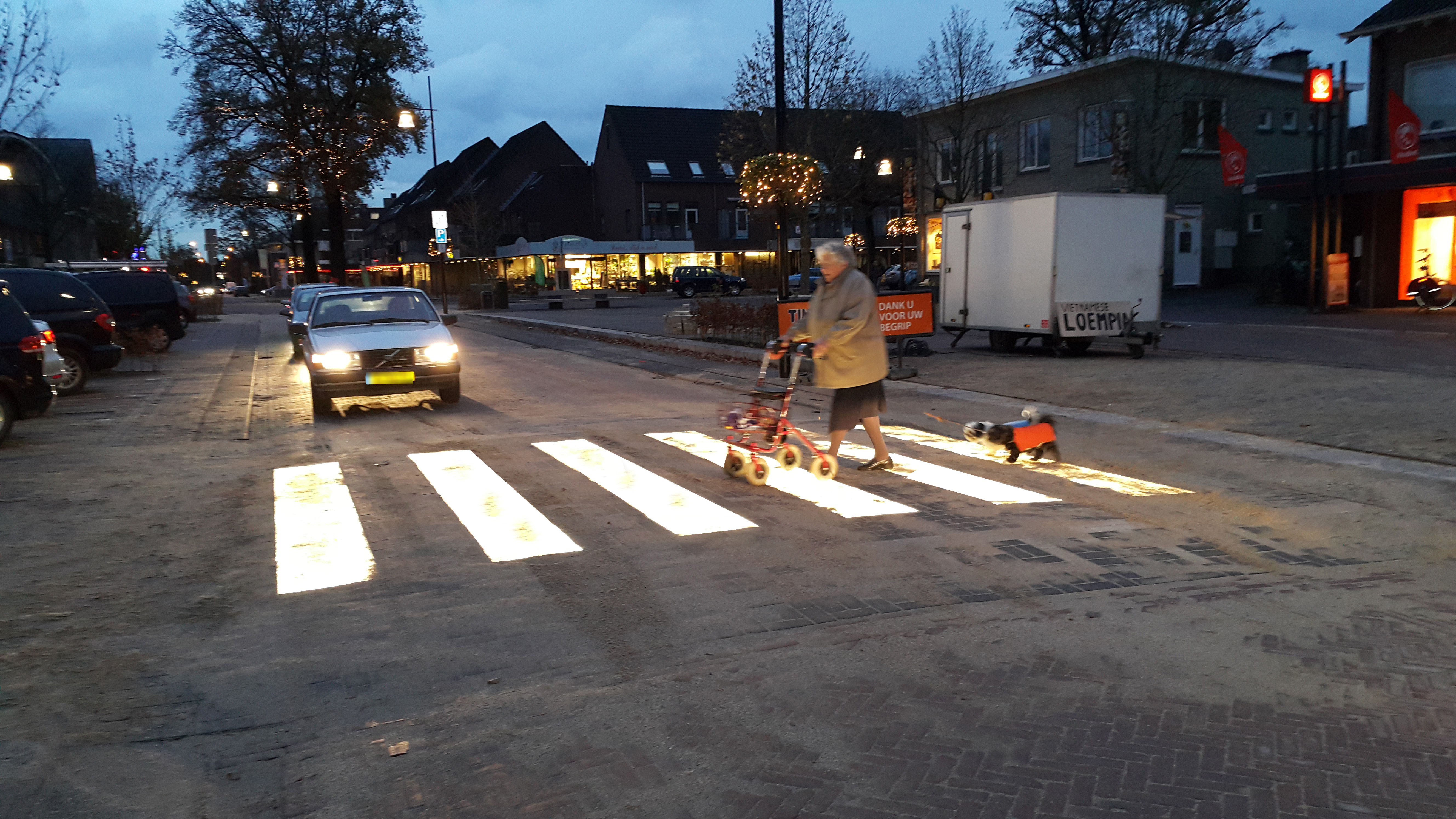 World's first lighted zebra crossing in the Netherlands • Materia
