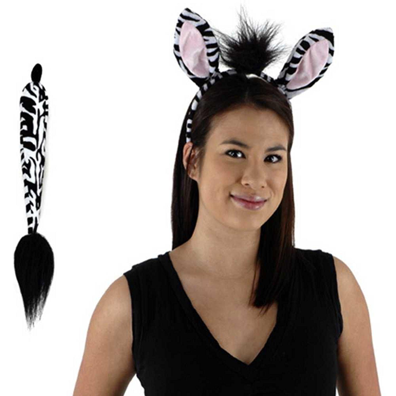 Amazon.com: Zebra Ears and Tail Set: Clothing