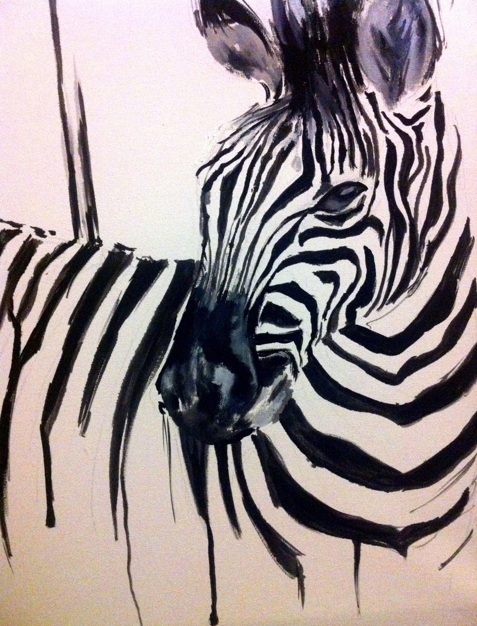 Zebra | Katy Jade Dobson ART | Abstract Zebra Art. | Pinterest ...