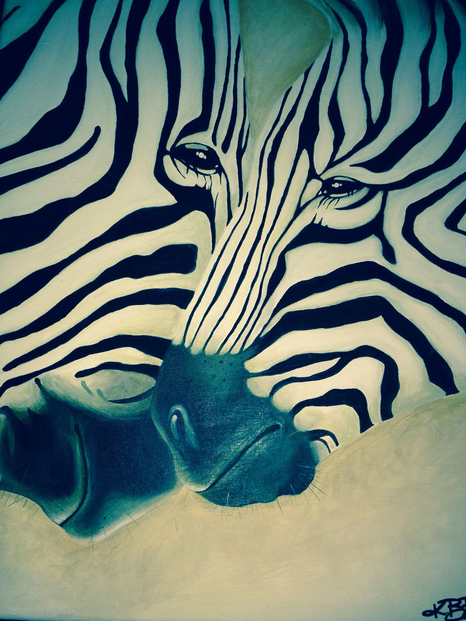 Realistic Zebra Paintings. Acrylic on canvas | Look what I made ...