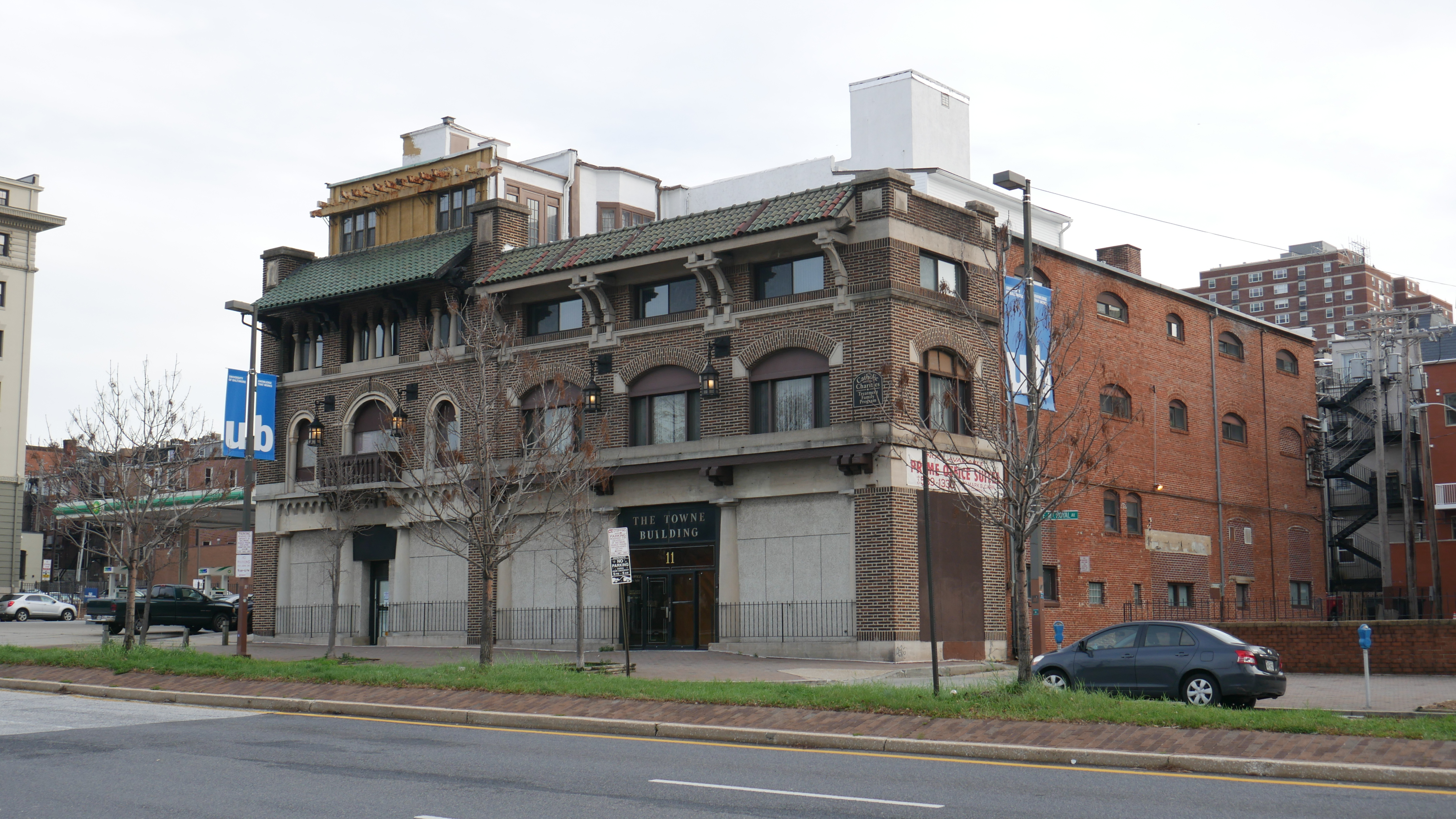 Zell Motor Car Company Showroom, 11 E. Mount Royal Avenue, Baltimore, MD, Architecture, Automobile dealership, Baltimore, Building, HQ Photo