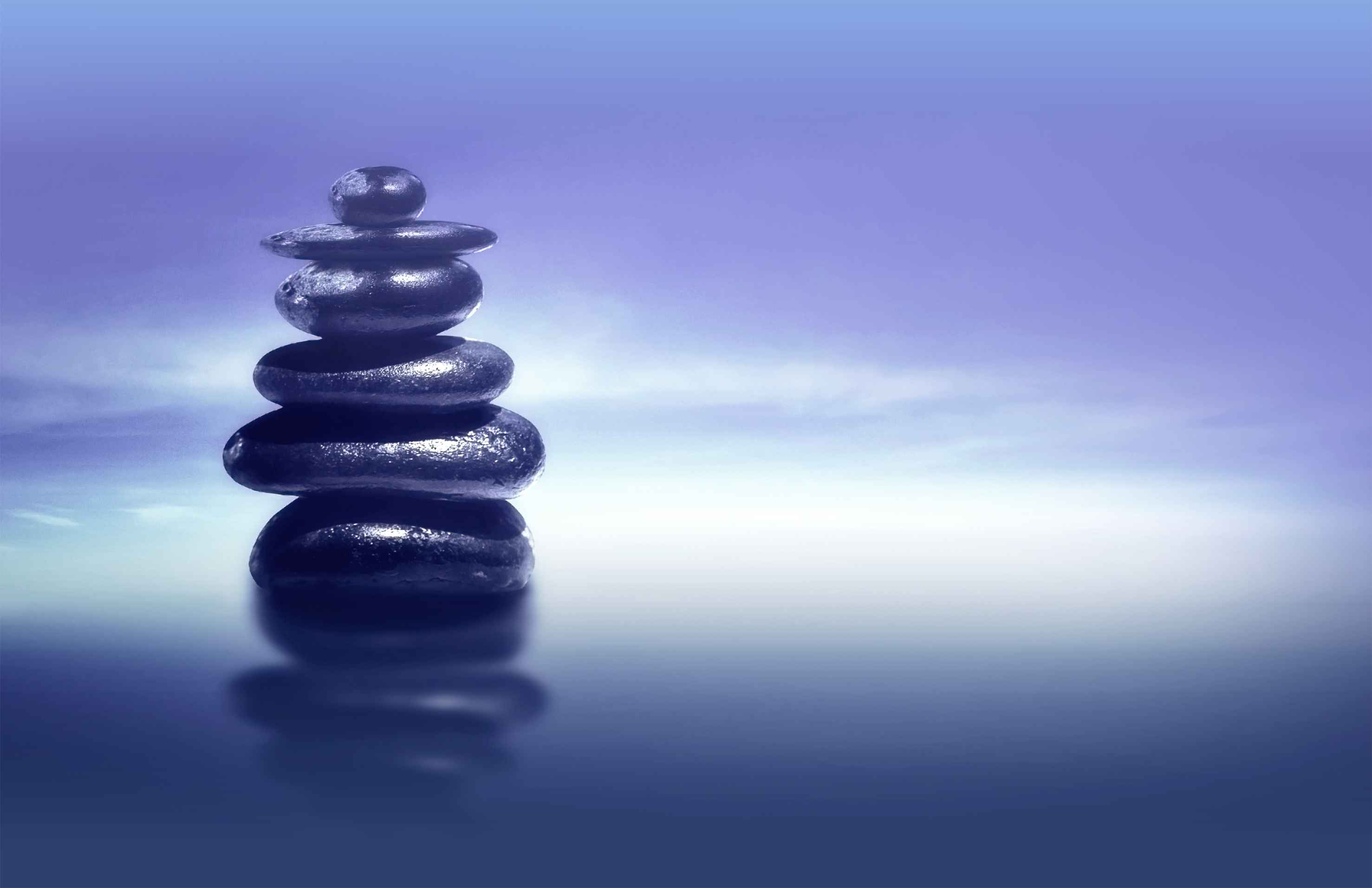 Zen stones - feng shui and harmony concept photo