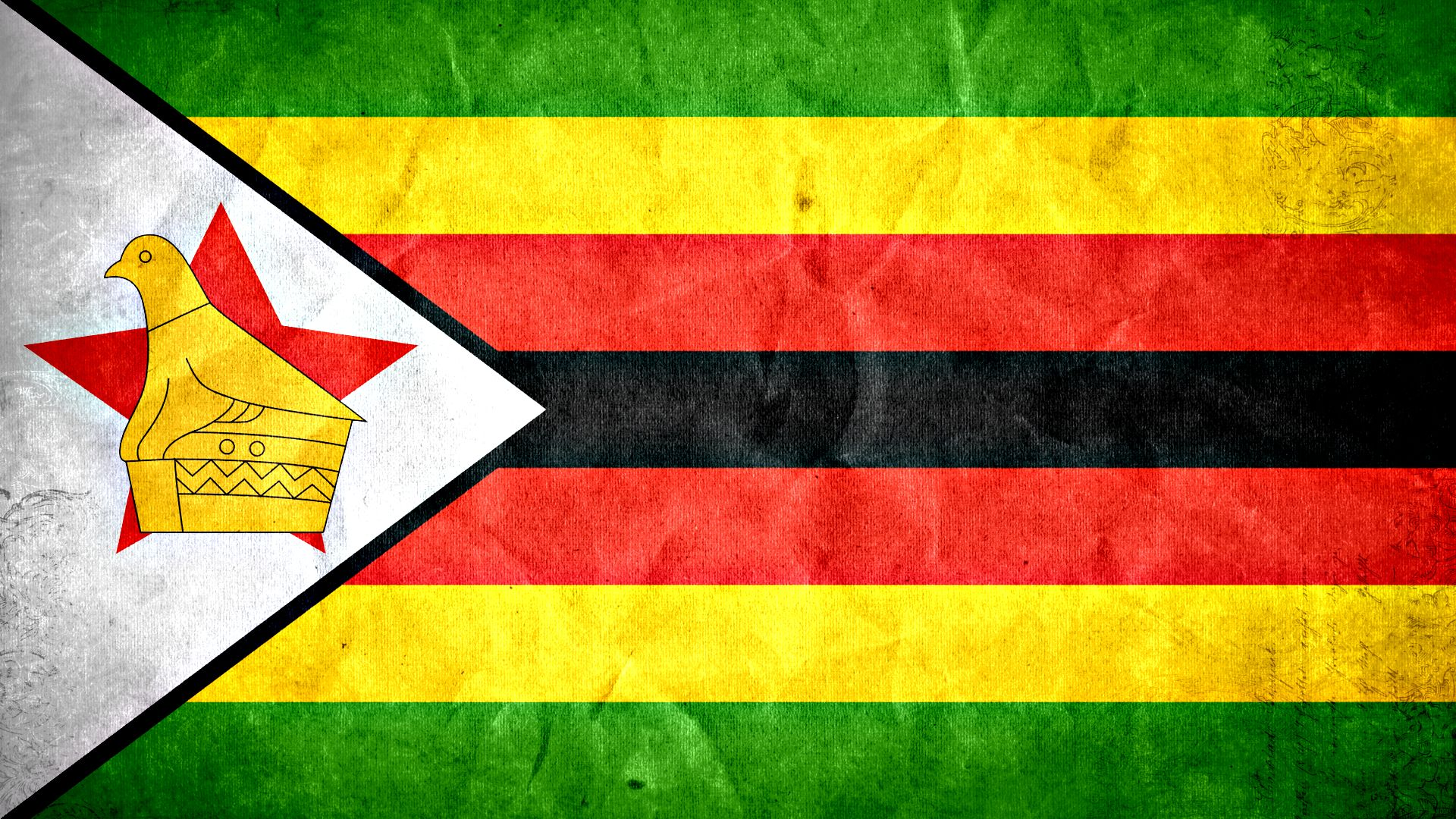 Zimbabwe grunge flag photo