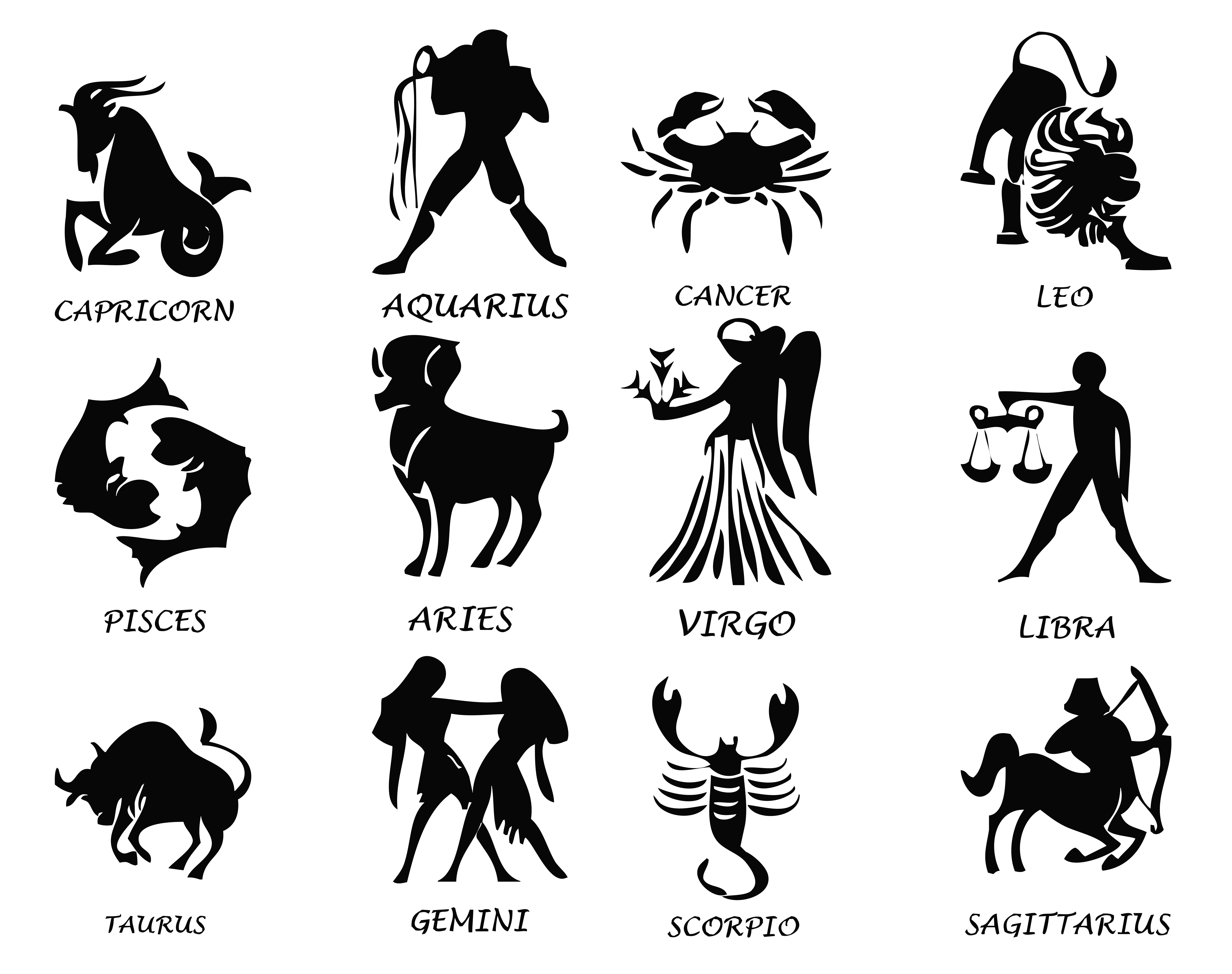 Transparent Zodiac Signs Set PNG Image | Gallery Yopriceville ...