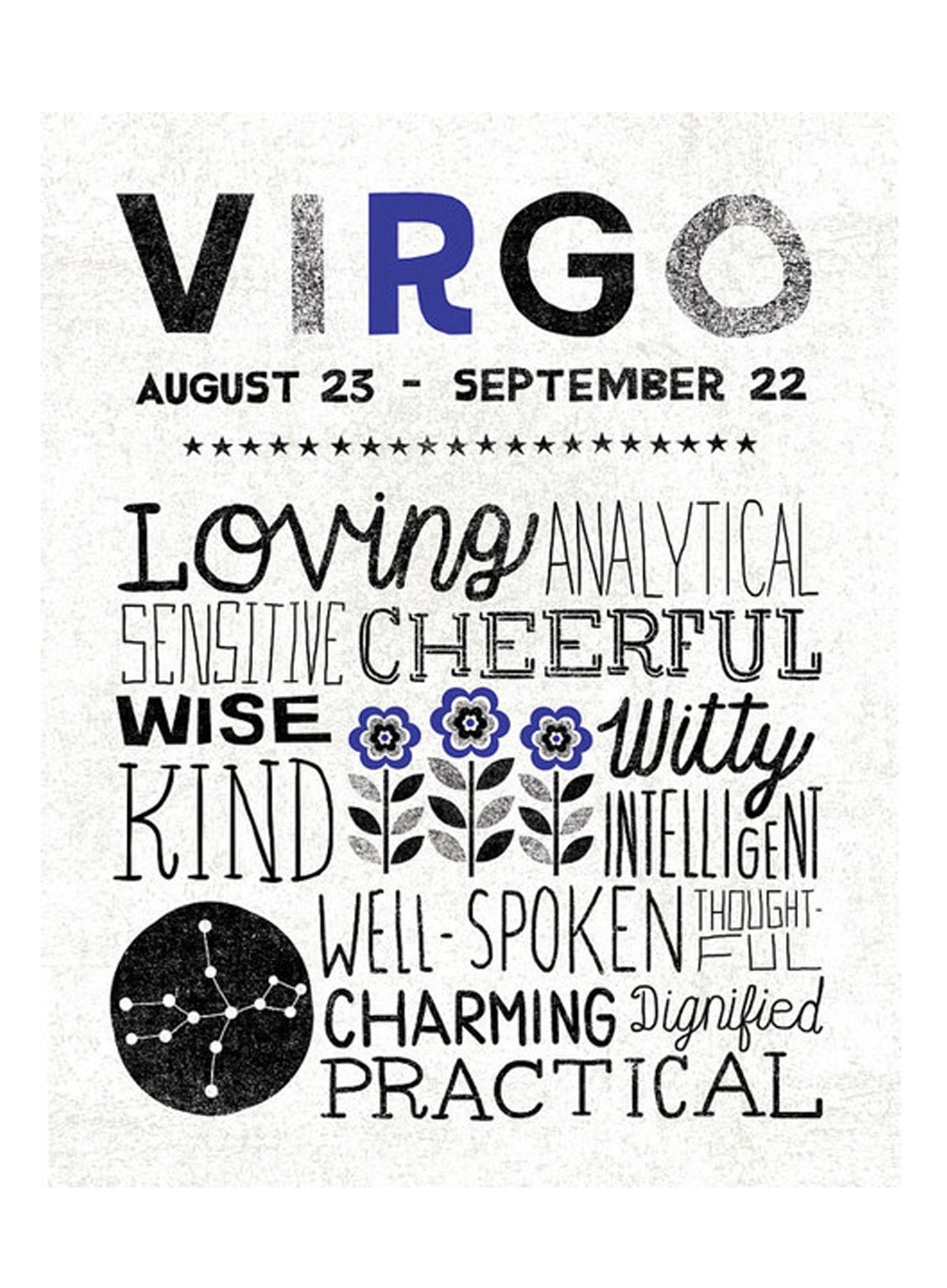 Virgo Zodiac Sign Art Print Zodiac Sign Art - Illustration by ...