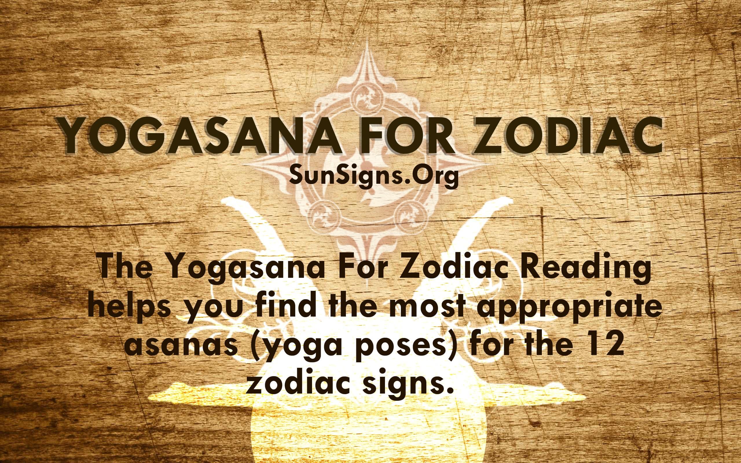 Yogasana For Zodiac   Sun Signs