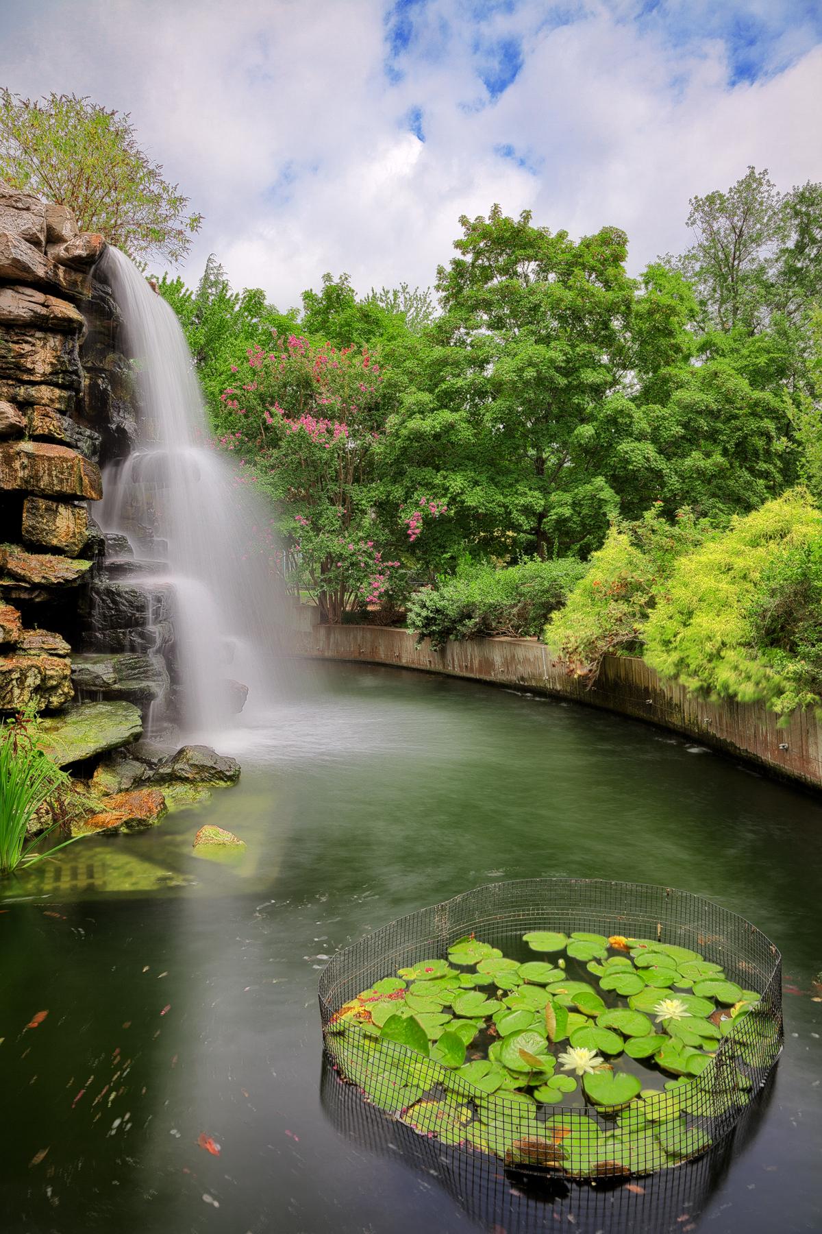 Zoo waterfall - hdr photo