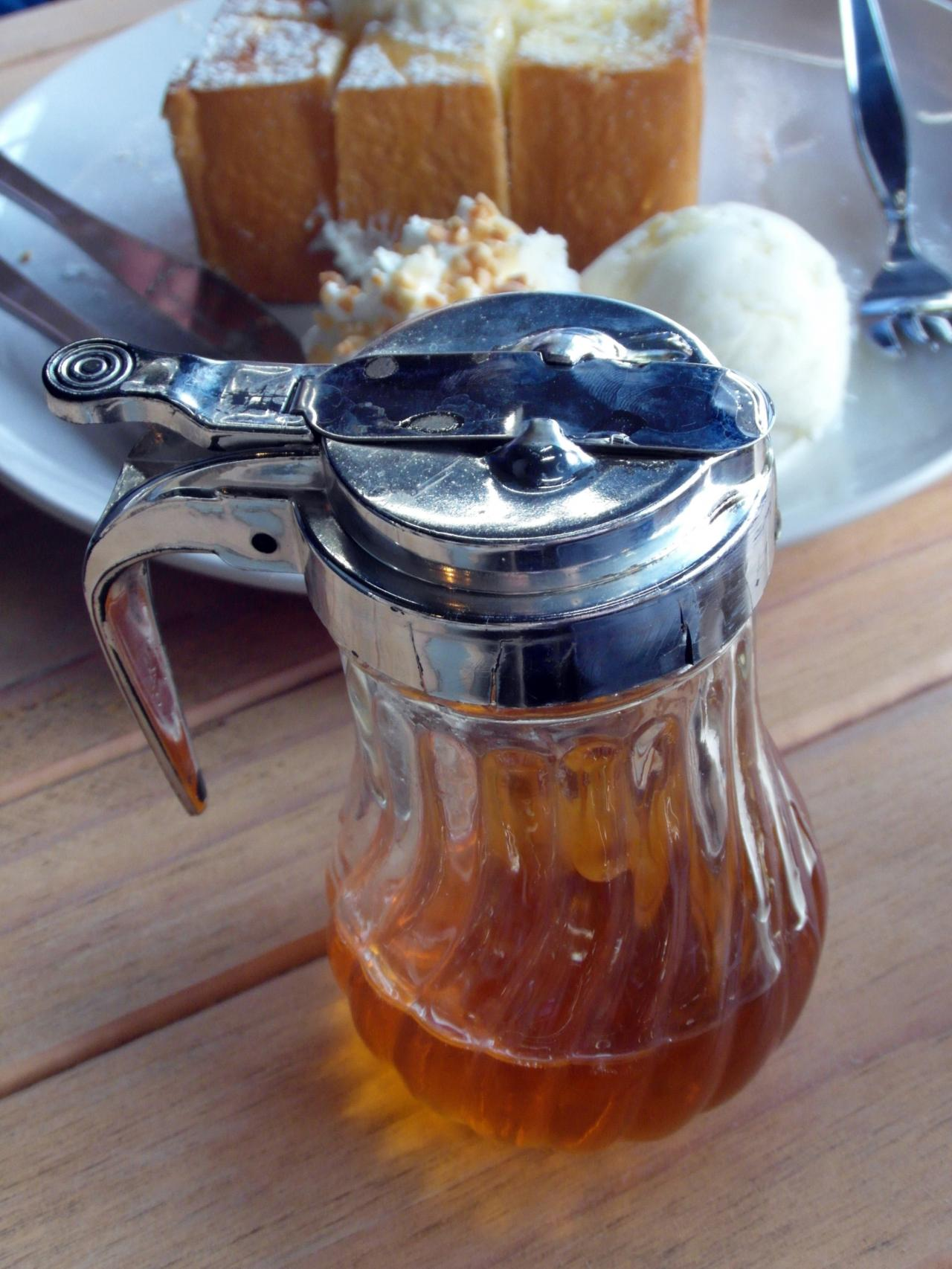 Honey Pot with Dessert, restaurant, pour, sweet, with, HQ Photo