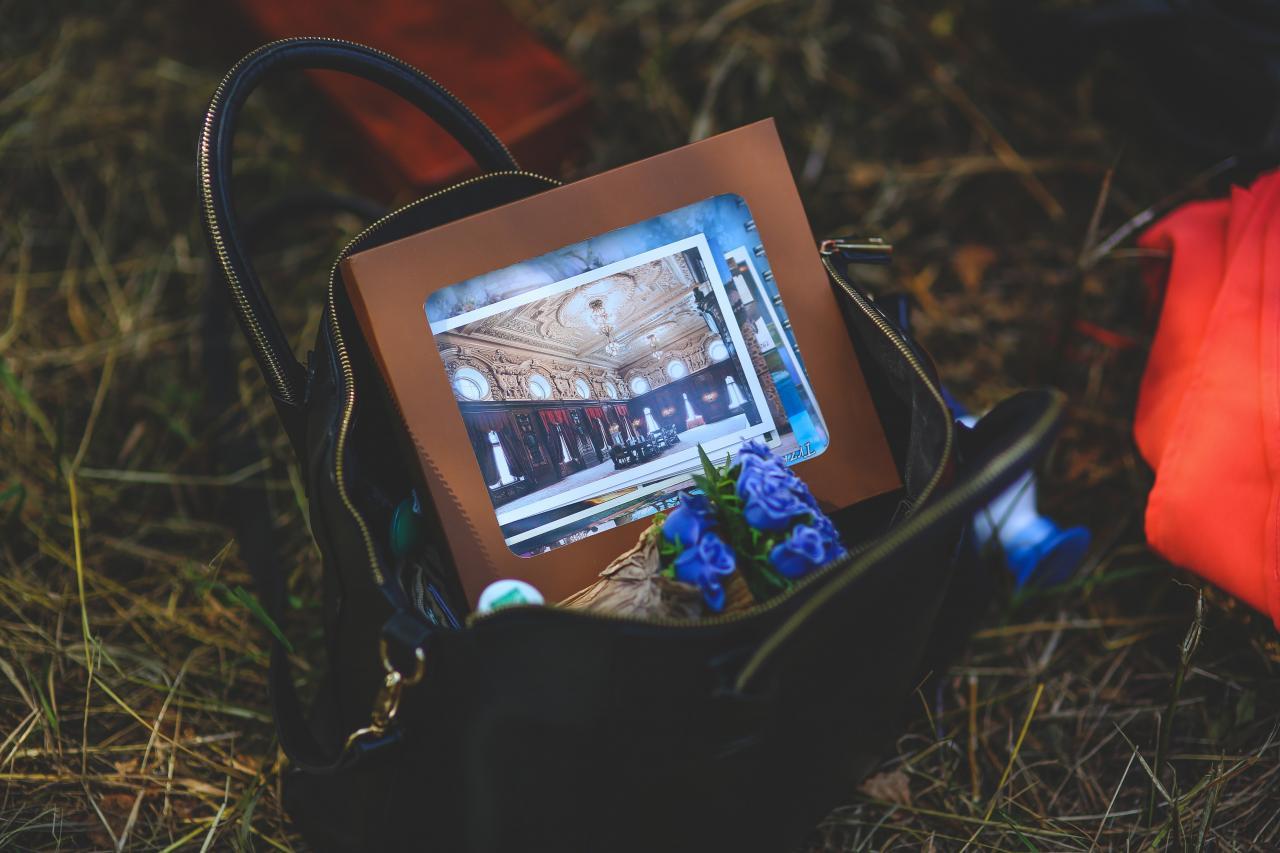 In girl's handbag, still life, screen, photos, outdoors, HQ Photo