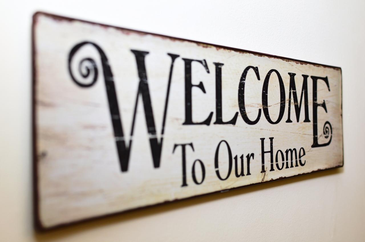 Free photo welcome to our home print brown wooden wall decor sign welcome to our home print brown wooden wall decor sign symbol text buycottarizona Gallery