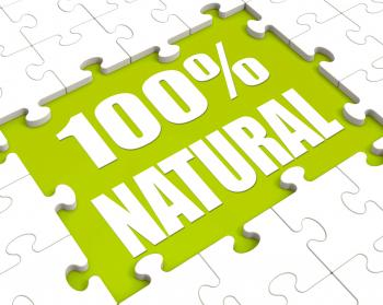 100 Percent Natural Puzzle Shows 100 Healthy Pure Food