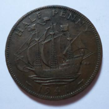 1941 Halfpenny coin