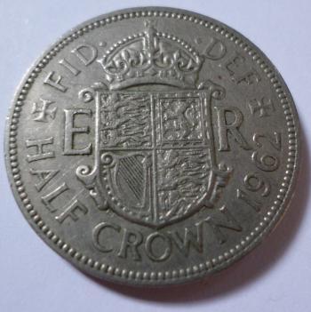1962 Half crown coin
