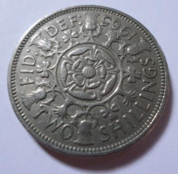1965 Two shillings coin
