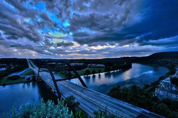 360 Bridge Before Storm, Austin TX