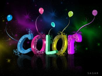 3D Colour Text