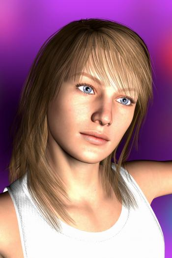 3D Portrait of a Girl
